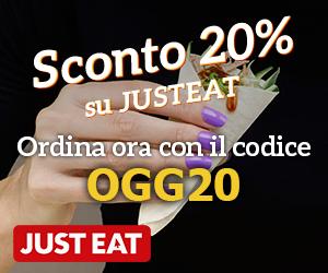Banner Just Eat, ordina online i tuoi piatti preferiti da migliaia di ristoranti: consegna a domicilio