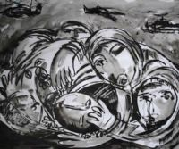 Locandina: Windows From Gaza - Pittori Palestinesi a Roma