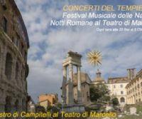 Locandina: Notti romane al Teatro di Marcello 2014