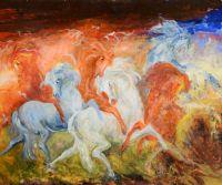 Locandina: Mostra di pittura antologica del Maestro Gianni Testa