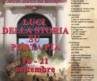 Locandina: Luci della Storia su Porta Pia