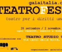 Locandina: Arriva la prima edizione di GAIAITALIATEATROFEST