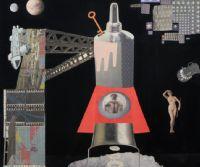 Locandina: Lancio Spaziale - Mostra personale di Francesco Bancheri