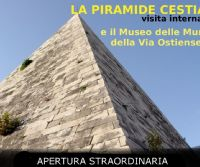 Locandina: La Piramide Cestia e il Museo Ostiense