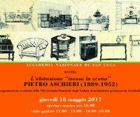 """Locandina: L'abitazione """"messa in scena"""". Pietro Aschieri (1889-1952)"""