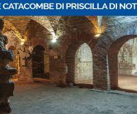 Locandina: Le Catacombe di Priscilla di notte: visite organizzate da I Viaggi di Adriano