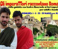 Locandina: Gli Imperatori raccontano Roma ai bambini