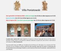 Locandina: Nuovi orari di apertura di Villa Poniatowski