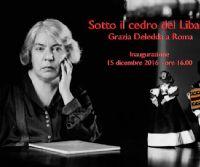 Locandina: Sotto il cedro del libano. Grazia Deledda a Roma