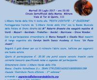 Locandina: Festa d'Estate de L'Albero Verde della Vita: evento di beneficienza