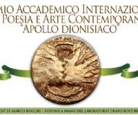 """Locandina: Poesia in teatro ed Arte in mostra. Sensi in festa al Premio Internazionale """"Apollo dionisiaco"""" Roma 2015"""