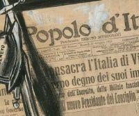 """Locandina: Mario Sironi e le illustrazioni per """"Il Popolo d'Italia"""" 1921-1940"""
