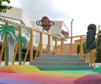 Locandina: La gomma riciclata da pneumatici simbolo di architettura d'avanguardia