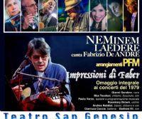 Locandina: Neminem Laedere canta Fabrizio De Andrè, arrangiamenti PFM