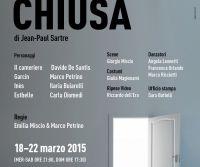 Locandina: Porta Chiusa di J.P. Sartre al Teatro Le Salette