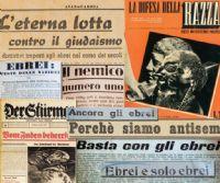 Locandina: La razza nemica. La propaganda antiebraica nella Germania nazista e nell'Italia fascista