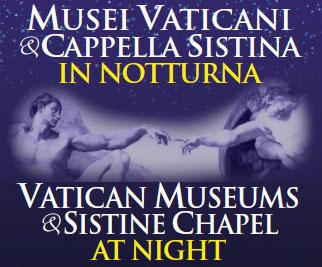 Musei vaticani in notturna