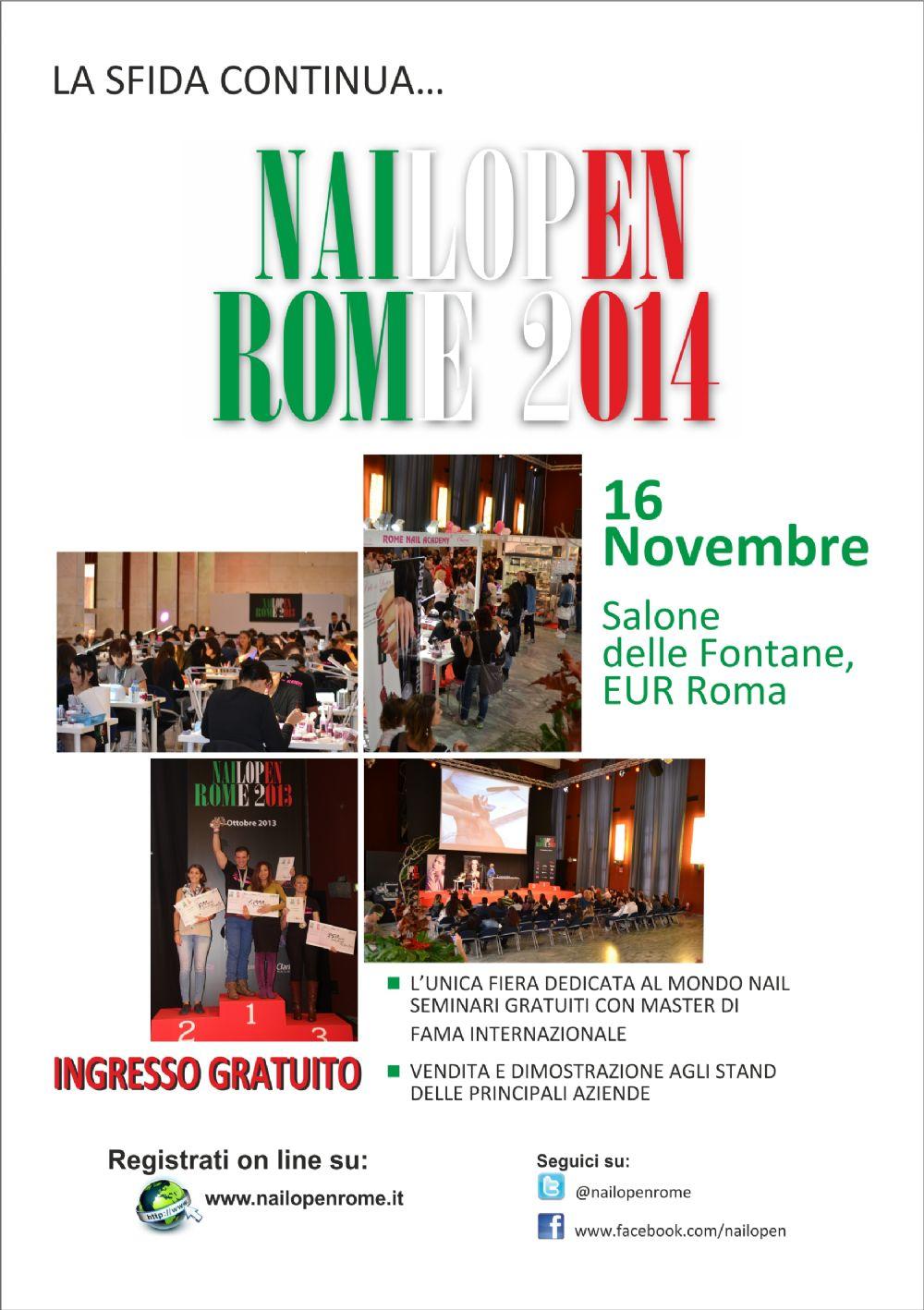 Mappa evento NAILOPEN ROME, In città, fiere a Roma
