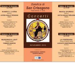 Locandina: Torna a San Crisogono l'annuale Rassegna concertistica