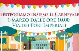 Locandina: A Roma il Carnevale si festeggia ai Fori