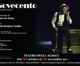 Locandina: Torna Novecento al Teatro degli Audaci