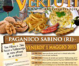 Locandina: Trascorri il 1° maggio... a Paganico Sabino