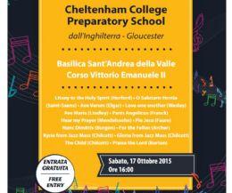Locandina: Concerto Cheltenham College Preparatory School presso Sant'Andre della Valle