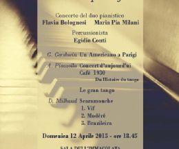 Locandina: Concerto danzando... tra due pianoforti