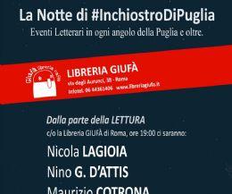 Locandina: La Notte di Inchiostro di Puglia a Roma