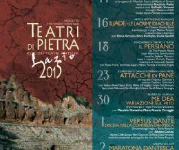 Locandina: Teatri di Pietra Lazio