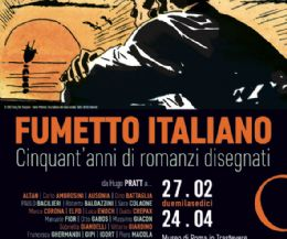 Event poster: Italian comics. Fifty years of drawn novels