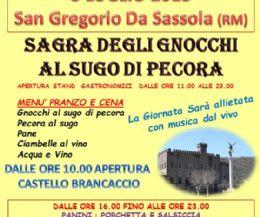 Locandina: Sagra degli gnocchi al sugo di pecora