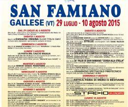 Locandina: Festa di San Famiano