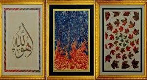 Locandina: Mostra di Ebru (antica arte di pittura sull'acqua) dell'artista turca Ilkay Şamlı