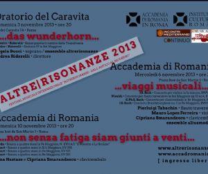 """Locandina: Festival Internazionale """"AltreRisonanze - dall'antico al moderno"""" 2013"""