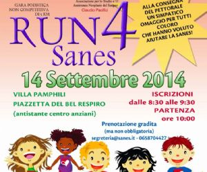 Locandina evento: RUN 4 Sanes