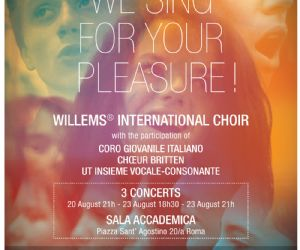 Locandina evento: We Sing for your Pleasure!