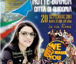 Locandina evento: Notte Bianca a Guidonia splende il 20 settembre