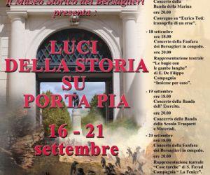 Locandina evento: Luci della Storia su Porta Pia