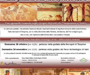 Locandina evento: Tour tra le tombe etrusche di Tarquinia e Vulci