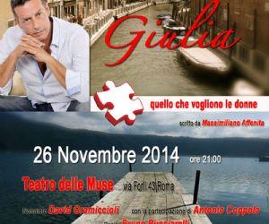 """Locandina evento: """"Giulia..."""", il racconto dell'anima"""