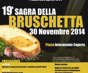 Locandina evento: Sagra della bruschetta a Monteleone Sabino