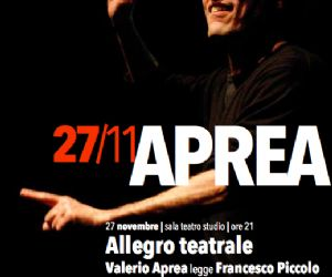 Locandina evento: Aprea: Allegro Teatrale