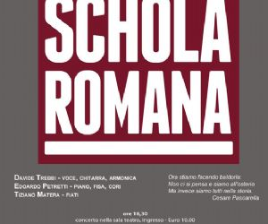Locandina evento: Schola Romana al teatro Arciliuto 30 novembre
