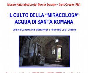 Locandina evento: La chiesa rupestre di Santa Romana, i Mèri e l'acqua miracolosa