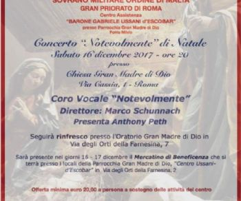 """Concerti - Concerto """"Notevolmente"""" di Natale"""