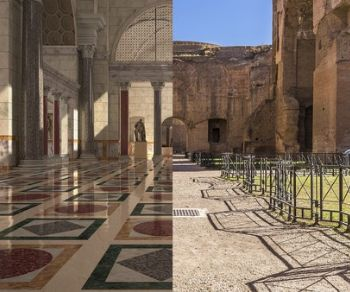 Locandina: Caracalla torna com'era nelle visite 3D