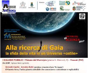 Locandina: Incontri di scienza 2017 - Alla ricerca di Gaia