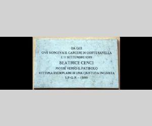 Locandina evento: Beatrice Cenci, nei luoghi di una tragedia storica