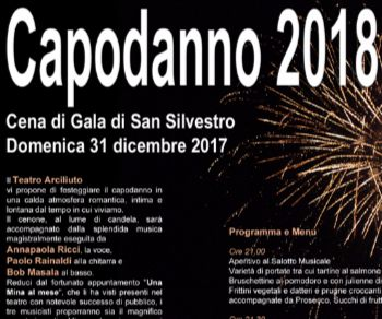 Spettacoli - Aspettando Capodanno 2018 al Teatro Arciliuto di Roma